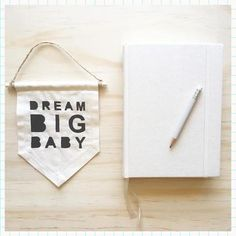 Kreo Loves Local   Typography   Small 'Dream Big Baby' Fabric Banner