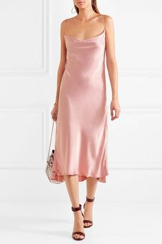 Baby-pink hammered-charmeuse Slips on 100% viscose Dry clean Designer color: Quartz Made in Italy