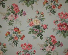 This lovely C. French Wallpaper is a wonderful rendition of an century French floral. This lovely wallpaper would be wonderful for framing. The background color is a lovely French blue with the flowers and ribbons. French Wallpaper, Antique Wallpaper, Fabric Wallpaper, Flower Patterns, Print Patterns, Vintage Floral Wallpapers, Colorful Backgrounds, Printing On Fabric, Antiques
