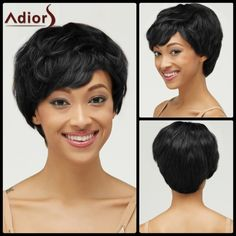 Fluffy Short Pixie Cut Haircut Curly Capless Synthetic Wig #>=#>=#>=#>=#> Click on the pin to check out discount price, color, size, shipping, etc. Save and like it!