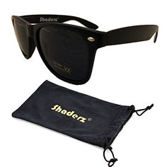 861b6dbe6cd Shaderz Classic Eyewear Matte Flat Black Retro 80s Sunglasses with Pouch     You can get more details by clicking on the image.Note It is affiliate link  to ...