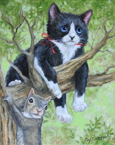 """Out on a Limb"" - Original Fine Art for Sale - © Joy Campbell"