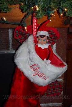 Hiding spot idea! Stocking or boot. Put Elfie in dad's massive boot in shoe closet (with door open so kids don't lose their minds when they can't find him!). Elf on the Shelf.