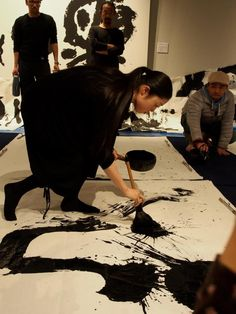 """Awesome """"abstract artists iii"""" info is readily available on our website. Take a look and you will not be sorry you did. Japanese Calligraphy, Calligraphy Art, Caligraphy, Princess Mononoke Poster, Arte Grunge, Art Asiatique, Art Japonais, Action Painting, White Art"""