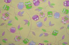 This and more fabrics for good prices available at our shop! Check it out here: https://www.etsy.com/listing/241140932/owl-fabric-cotton-fabric-for-children?ref=shop_home_active_5
