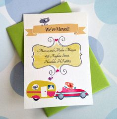 Change of Address Cards Moving Cards Set of 12 by PikakePress