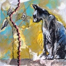 Joan Martin - Works - Understory August 2014 (small works) Please click icons to view larger Small Words, Window View, Moose Art, Mixed Media, It Works, Artwork, Animals, Painting, Art Work