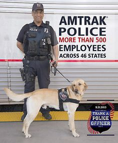 Did you know Saturday, September 21, 2013 was National Thank a Police Officer Day? We have one thing to say to the more than 500 Amtrak Police Department employees… THANK YOU!