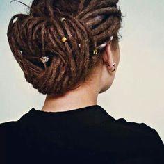 Dread Style Bun #dreads #dreadlocks