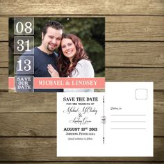 Save the Date Postcard  Digital file by ChelsiLeeDesigns on Etsy, $12.00
