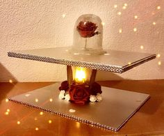 Check out this item in my Etsy shop https://www.etsy.com/uk/listing/543263232/cake-stand-rose-wedding-2-tier