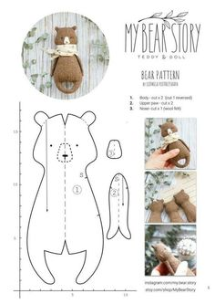 Best 12 PDF Sewing Pattern & Tutorial Mohair Rabbit 6 Inches Stuffed Animal Pattern Easter Bunny Pattern Artist Teddy Bear Pattern For Woman – SkillOfKing. Sewing Toys, Sewing Crafts, Felt Crafts, Fabric Crafts, Kids Crafts, Tilda Toy, Fabric Toys, Toy Craft, Stuffed Animal Patterns