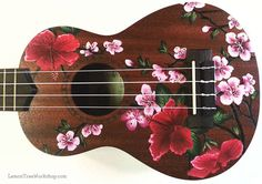 YOUR Ukulele Handpainted with Hibiscus & Cherry Blossoms  (Ukulele not…
