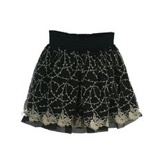 Fashionable Embroidered Empire Line Skirt Black via Polyvore