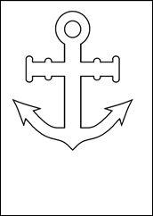 άγκυρα 25 March, Nautical, Draw, Summer, Templates, Image, Sailor, Animaux, Pisces