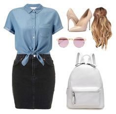 A fashion look from June 2016 featuring cropped shirts, high-waisted skirt and high heeled footwear. Browse and shop related looks. Sheriff, Acne Studios, Miss Selfridge, Streetwear Brands, Cherry, Luxury Fashion, Topshop, Polyvore, Shopping