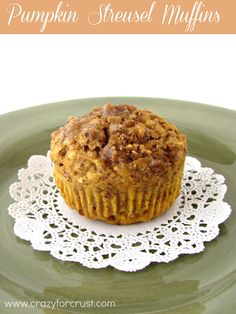 Pumpkin Steusel Muffins - these really are healthy!