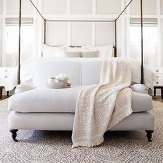 The foot of the bed is just the beginning! Max out your bedroom's zen potential with a two-seater sofa at the foot of the bed. It's the perfect spot to encourage leisurely mornings with a good book and cup of coffee. Room and furnishings by @annieselke. #getinspired