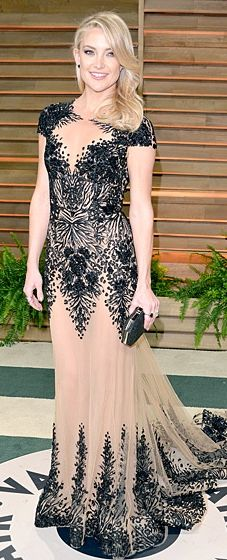 Kate Hudson dressed in Zuhair Murad at the 2014 Vanity Fair Oscar Party