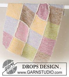 Blanket knitted in garter sts in Alpaca ~ DROPS Design