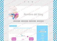 """Diseño de blog"" en venta - Ref. ""Infantil1"""