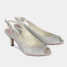 Pink designed by Paradox London. Glimmer sling backs show case an open toe, practical 2 1/4