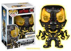 Amazon.com: Funko POP Movies: Ant-Man Glow in The Dark Yellow Jacket Action Figure [Amazon Exclusive]: Toys & Games