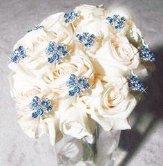 Light Blue Crystal Swirl Bouquet Jewelry | Bouquet Jewelry