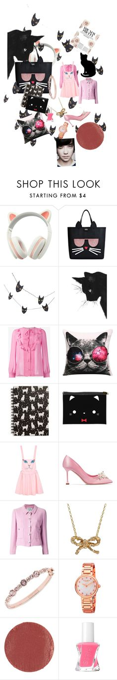 """kawaii  kat  💗💖"" by alexbright111 ❤ liked on Polyvore featuring Karl Lagerfeld, Crate and Barrel, Miu Miu, Tri-coastal Design, Chicnova Fashion, Chanel, Chupi, Givenchy, Akribos XXIV and Le Métier de Beauté"
