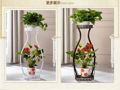 Full size of indoor plant stand ideas designs diy plans flower multi creative decorating agreeable sta Flower Stands, Flower Boxes, Indoor Flowers, Indoor Plants, Wrought Iron Decor, Glass Planter, Porch Garden, House Plants Decor, Plant Shelves