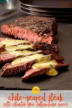 Try this Southwest twist on the classic steak with a cilantro lime hollandaise sauce. It can be prepped, cooked and served in close to 30 minutes making it perfect for a Valentine's Day dinner!