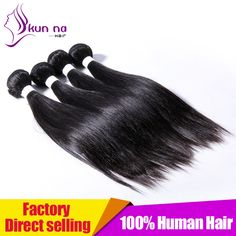 Find More Human Hair Extensions Information about KUN NA 7A Brazilian Virgin…