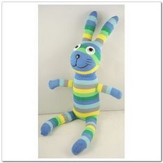 Handmade Sock Rabbit Bunny Stuffed Animal Doll Baby Toys. $10.99