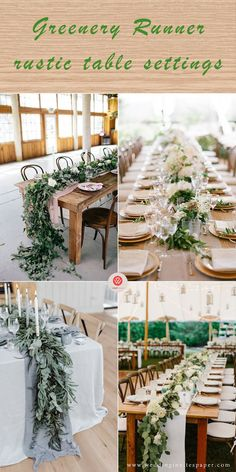 Top 37 Rustic Wedding Centerpieces Top 23 Remarkable Rustic Wedding Centerpieces---greenery table settings with candles and whiter flowers, spring and fall. Reception Table Decorations, Rustic Wedding Centerpieces, Wedding Arrangements, Wedding Table Centerpieces, Wedding Decorations, Wedding Ideas, Rustic Weddings, Country Weddings, Wedding Trends
