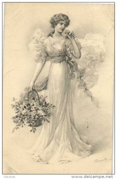 Decoupage Vintage, Vintage Ephemera, Vintage Cards, Vintage Postcards, Vintage Pictures, Vintage Images, Photo Souvenir, Romantic Cards, Black And White Prints