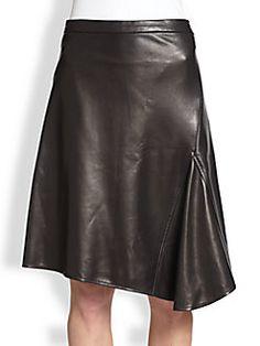 10 Crosby Derek Lam - Asymmetrical Leather Skirt saksfifthavenue.com