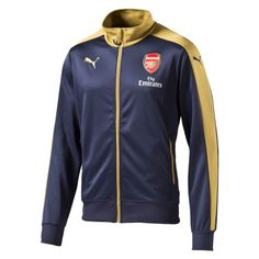 4bc0c095171 Puma Arsenal Away Stadium Jacket (Black Iris Victory Gold) http