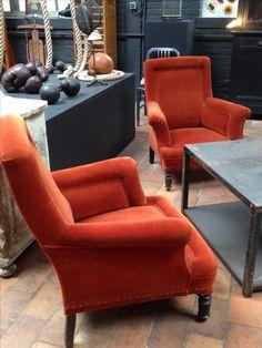 paire de fauteuils Napoléon III  www.passe-compose.be