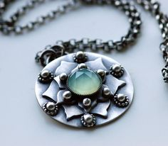 Lotus Leaf Pendant Necklace - how pretty. Love the symbolism of THE LOTUS FLOWER, particularly in Indian tradition.