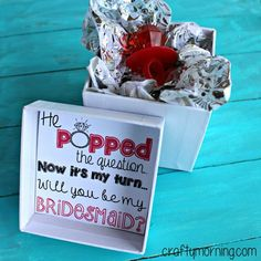 He Popped The Question, Now It's My Turn Bridesmaid Ring Pop Printable