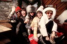 Ski lodge theme party inspiration for company winter party. Winter Lodge, Ski Chalet, Apres Ski, Winter Is Coming, Party Themes, Skiing, Fur Coat, Retro, Ski Outfits
