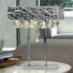 Lampa stołowa MAGMA ze zwisającymi kryształami 6000058