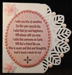 22 Ideas Quotes Friendship Birthday Words For 2019 Birthday Verses For Cards, Birthday Words, Happy Birthday Wishes Cards, Birthday Cards For Women, Birthday Month, Birthday Sayings, Sister Birthday, Gsm Paper, Paper Cards