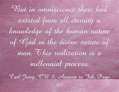 But in omniscience there had existed from all eternity a knowledge of the human nature of God or the divine nature of man. This realization ...
