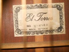 El Torres W-416 B