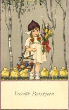 Old Easter Post Card — Netherlands, 1922   (492×778)
