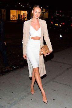 A mais nova mamãe modelo, Angel da Victoria's Secret, mais uma vez arrasando no look!! #Candice #Swanepoel #Stylish #People
