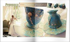 Toscana and Provence vintage unique mug.