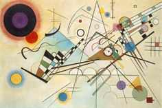 Composition VIII ~ Wassily Kandinsky, oil on canvas, 55 x 79 Solomon R. Guggenheim Museum, New York. The first of more than 150 works by the artist to enter the collection. Kandinsky regarded 'Composition as the high point of his postwar achievement. Programme D'art, Abstract Expressionism, Abstract Art, Abstract Designs, Abstract Landscape, Abstract Posters, Landscape Design, Kandinsky Art, Kandinsky Prints