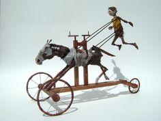 Os Cavalos e Personagens de Jim Casey - Esculturas Autômatas